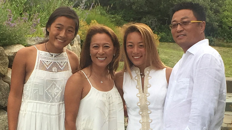 Cosmetic dentist Dr. Michael Chung and his family